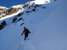 Abfahrt Gipfelhang
