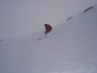 direkte Abfahrt vom Gipfel