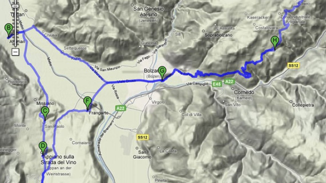 Mountainbike-Tour Ritten/Überetsch