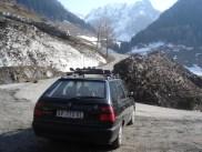 Blick von meinem Auto Richtung Walderhof