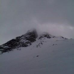 Rückblick Richtung Gipfel