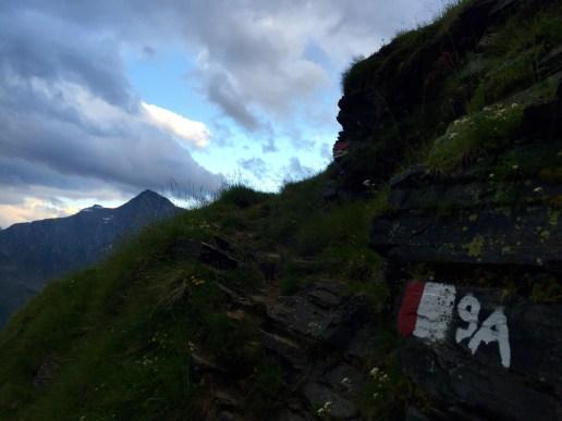 Aufstieg über Steig Nr. 9A