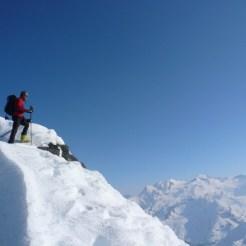 Abstieg über den Grat