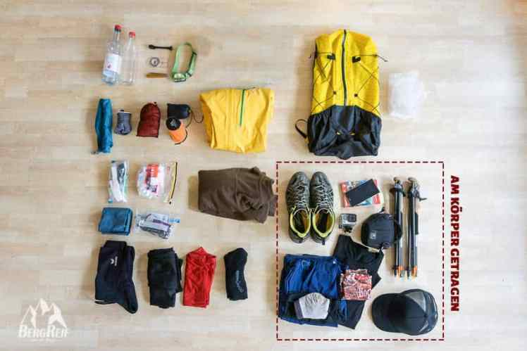 Packliste Hüttentour Packliste