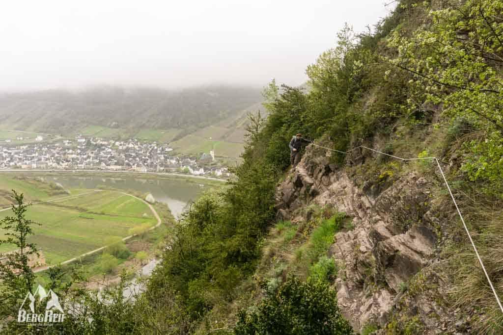 Klettersteig Mosel : Calmont klettersteig bergwandern m über der mosel bergreif