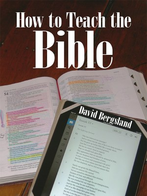 How to Teach the Bible with power is my most popular Christian non-fiction title