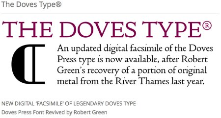 Doves Type font