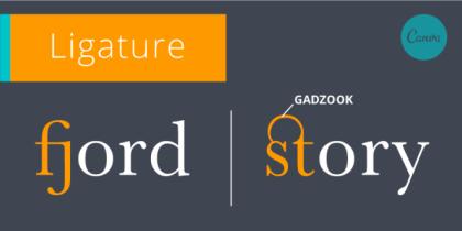 ligature Gadzook