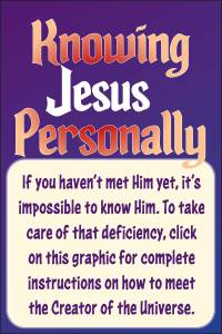 Knowing Jesus personally in daily living