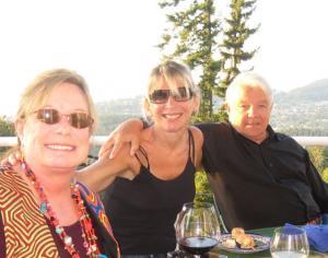 Pamela Cumming, David Gregory and Jody Bergsma. Friends and neighbors on Chuckanut Mountain.