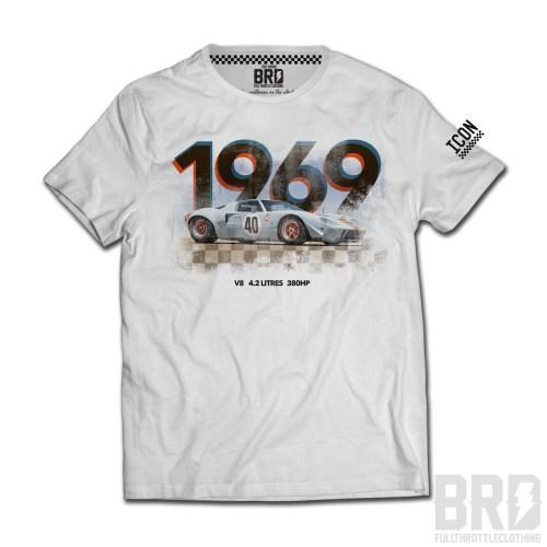T-shirt Gt 40 1969 White