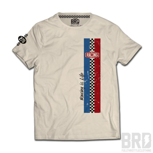 T-shirt Racing is Life 278 Off White