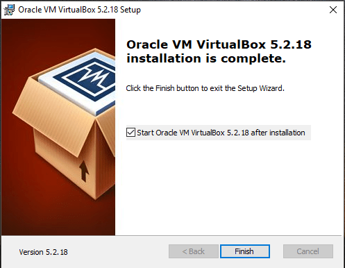 Install VirtualBox 5.2.18 di Windows 10-8