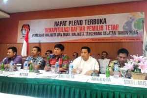 Suasan Rapat Pleno KPU