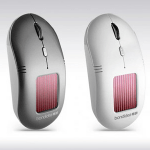 Bondidea N91 Solar Wireless Optical Mouse, Mouse Nirkabel dengan Panel Surya dan Baterai AAA