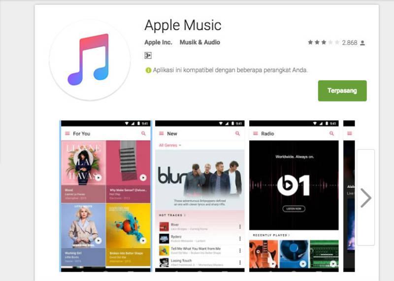 Apple Music Untuk Platform Android Sudah Tersedia Dalam Bentuk Beta