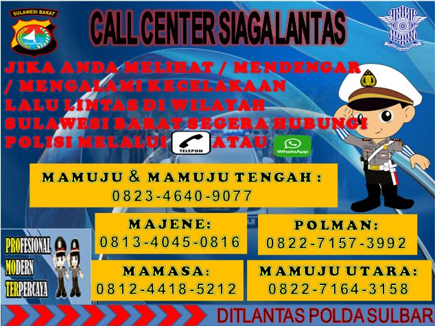 Dit Lantas Polda Sulbar Bangun SPT Call Center Siaga Lantas dan FGD Post Crash			No ratings yet.