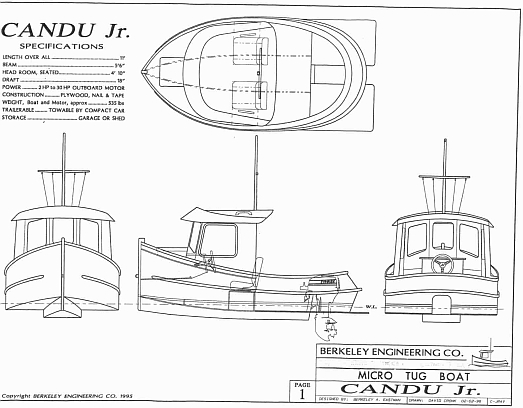 Candu Jr ,Mini Tugboat Plans, Tugboat Plans
