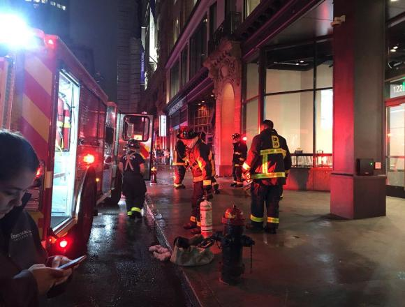 Minor fire in Center Stage, no injuries