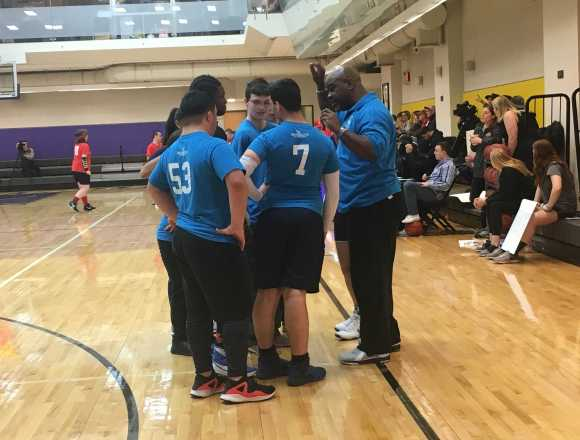 Emerson athletes create college atmosphere for Special Olympics event