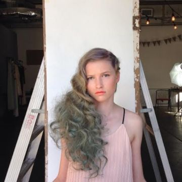 Freshman Albany Alexander models for Vogue Italia