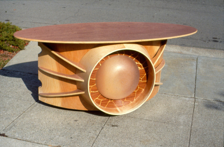 Rolling buffet table designed by Eugene Tssui. Photo courtesy of Eugene Tssui.