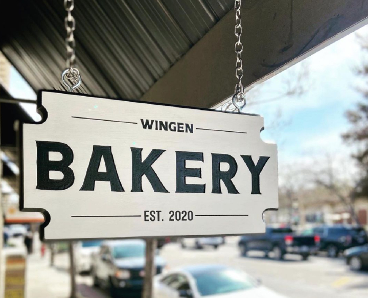 The sign is up at Wingen Bakery's Downtown Livermore storefront.