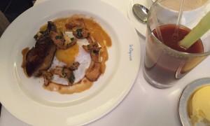 Duck egg with foie gras