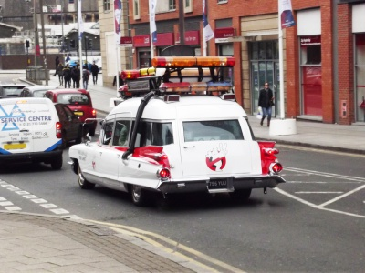 The Ecto 1A from Ghostbusters 2! For someone's wedding! By: Elliott Brown, CC BY-SA 2.0