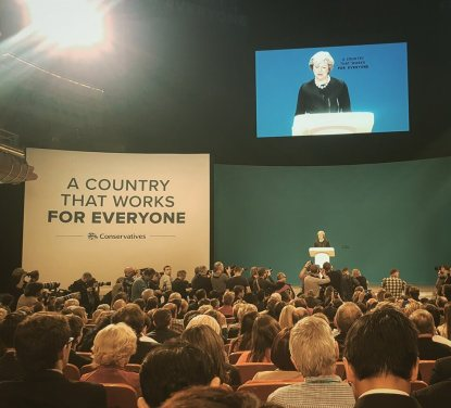 Theresa May on the first day of CPC16