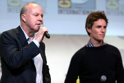 Eddie Redmayne (Newt) and director David Yates promoting the film at SDCC