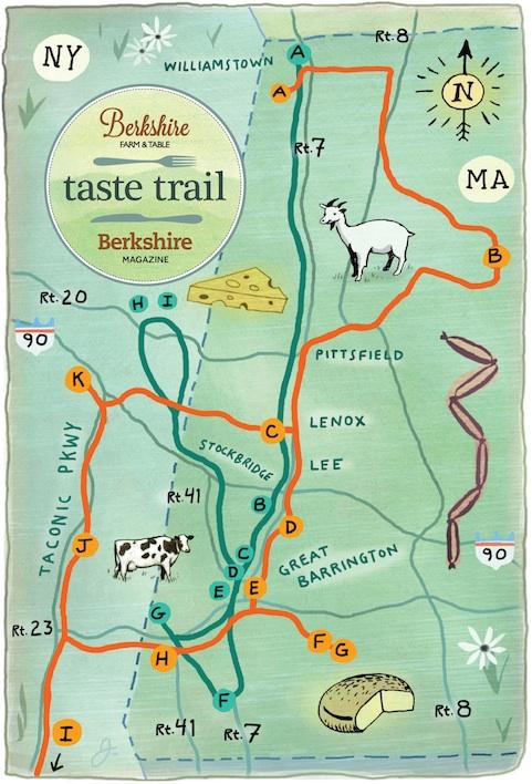 Taste Trails map