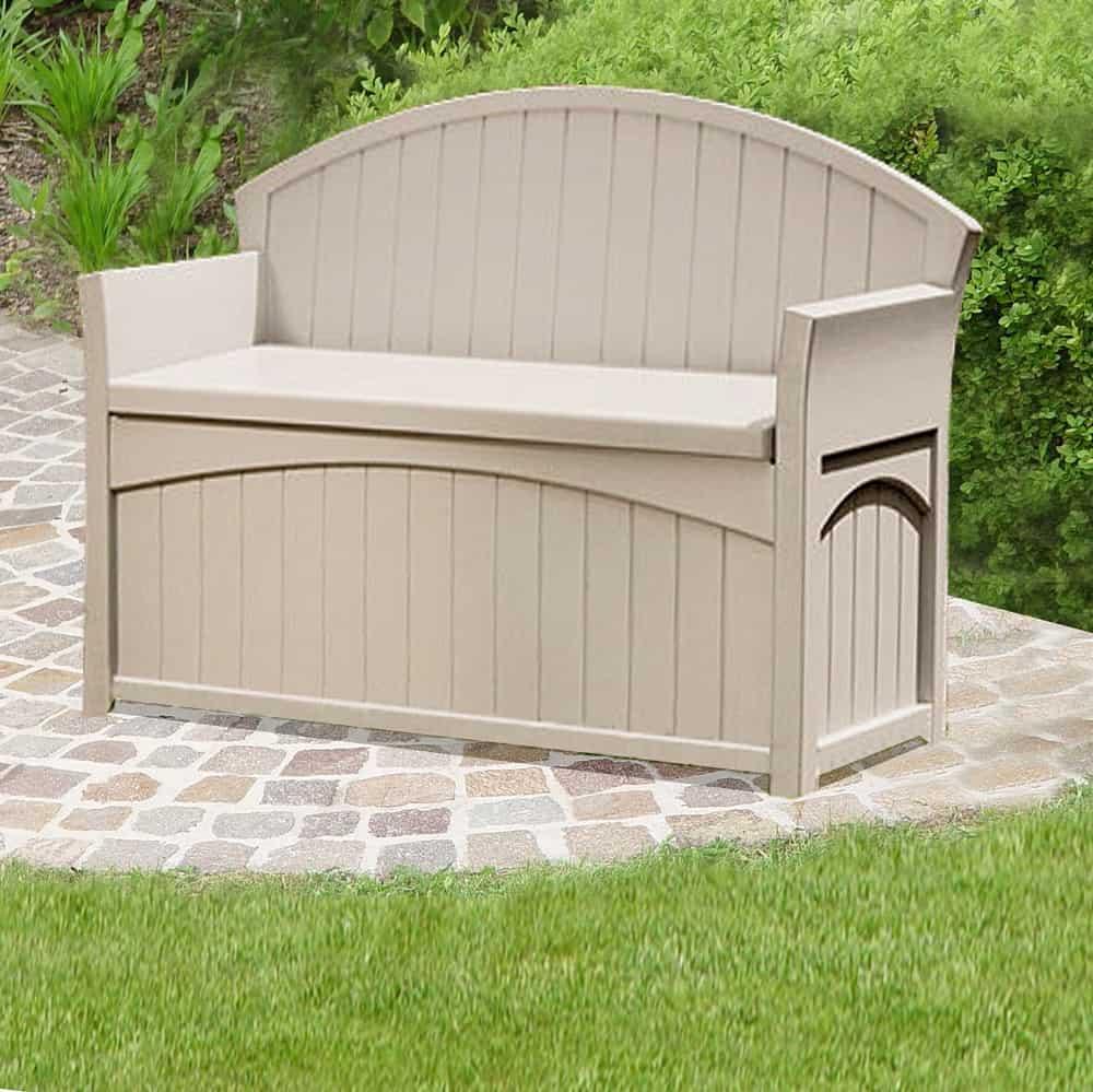 patio storage bench pb6700 by suncast