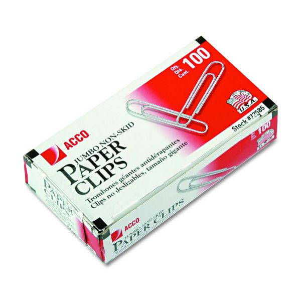 Acco Brands Paper Clip - Jumbo Recycled 1000 Pack Of