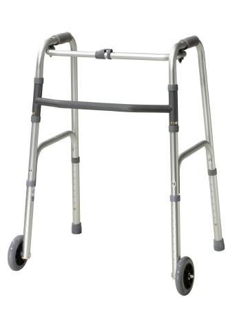 Drive Medical Folding Walker Adjustable Height Aluminum