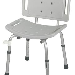 Shower Wheel Chair Red Salon Sf Medline With Back W Ez Care 250 Lb