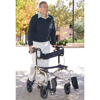 walker roller chair fold up ultra ride item 81530344 also features locking hand brakes safety belt and carry handle height adjusts from 30 5 37 seat 19 w supports to 250 lbs