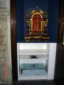 Urne contenant les restes de Marie de Duras. Conservée sous l'autel de Notre Dame de Montaigu en la chapelle Maes de la Cathédrale Sts. Gudule et Michel à Bruxelles.