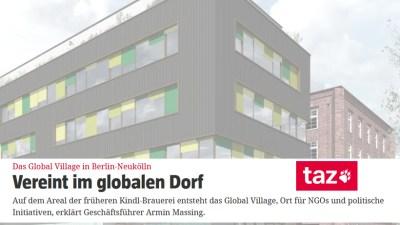 Vereint im globalen Dorf – BGV-Feature in der TAZ