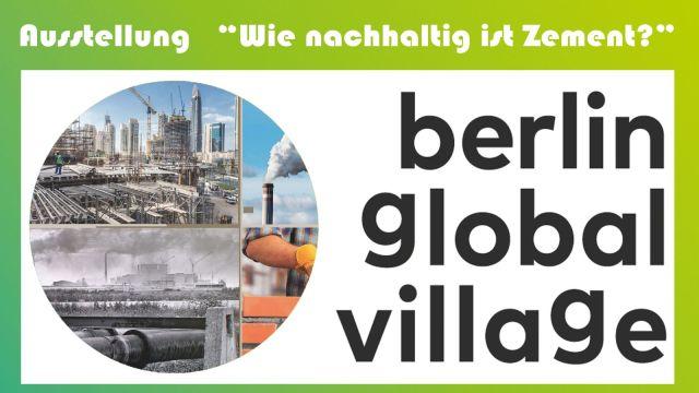 """Ausstellung """"Wie nachhaltig ist Zement?"""" in der BGV-Lounge"""