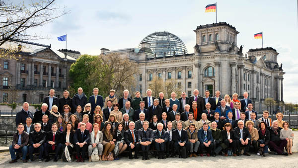 Group Picture at Reichstag, Event in Berlin