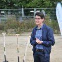 Erweiterung: 1. Spatenstich der Kindertagesstätte Havelländer Ring - Dr. Sandra Obermeyer spricht