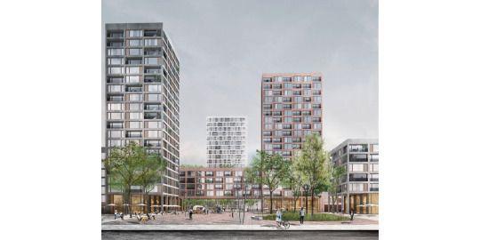 Visualisierung des neuen Marktplatzes im Stadtteil Gehrensee