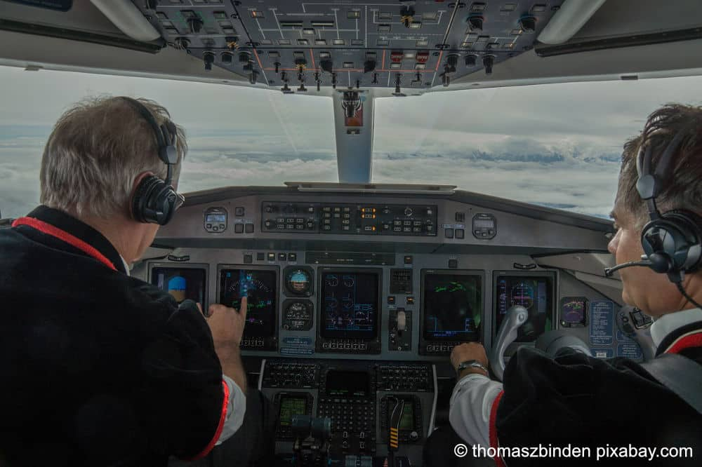 Bild Flugzeug Cockpit