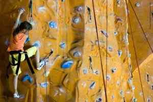 Bild Klettern in einer Kletterhalle