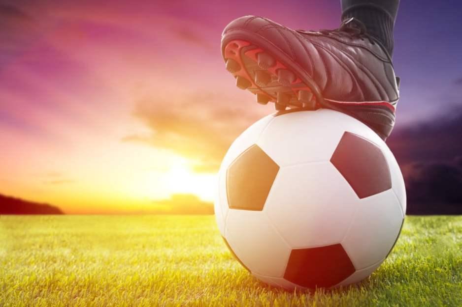 Bild Fußball Wiese