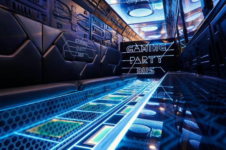 Gaming Bus Party machen