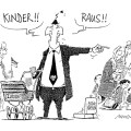 """Kinder raus..."" © Cartoon-Caricature-Contors"