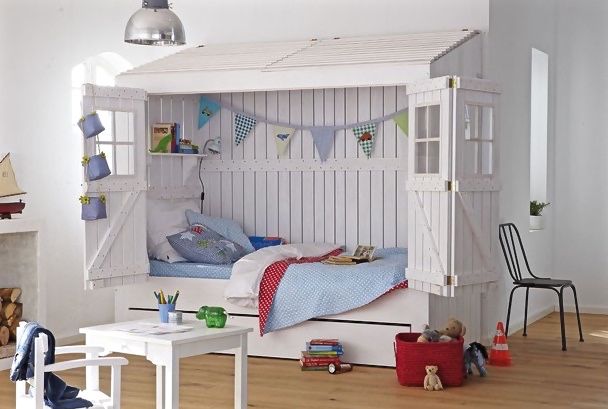 Au ergew hnliche kinderbetten inspiration f rs kinderzimmer for Kinderzimmer mit 2 betten