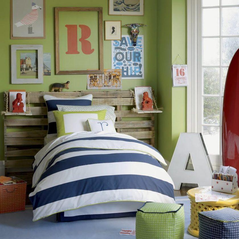Einrichtungsidee: Cooles Kinderzimmer für Jungen in Grün